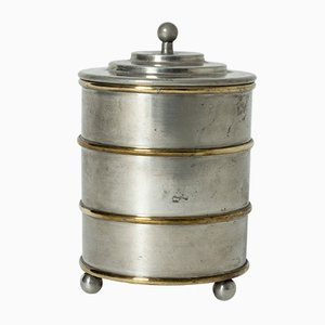 Pewter and Brass Jar from Herman Bergman