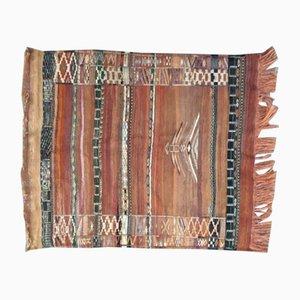 Flachgewebter marokkanischer Vintage Teppich, 1980er
