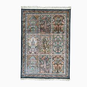 Vintage Kashmir Silk Rug, 1980s