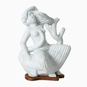 Leda and the Swan Sculpture by Stig Lindberg for Gustavsberg, 1940s