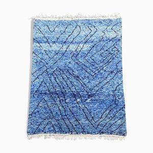 Blauer Marokkanischer Teppich