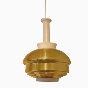 Brass Model A335B Ceiling Lamp by Alvar Aalto for Artek, 1970s