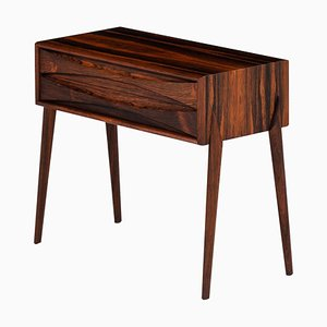 Swedish Rosewood Side or Bedside Table by Rimbert Sandholdt for Glas & Trä, 1960s