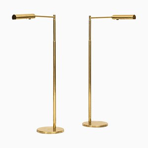 Swedish Model G-300 Floor Lamps from Bergbom, 1970s, Set of 2