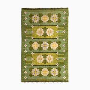 Schwedischer Flachgewebe Teppich von Ingegerd Silow, 1950er