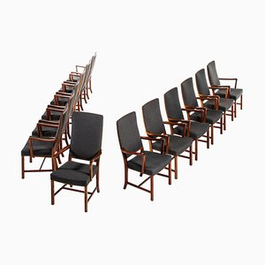 Swedish Conference Armchairs from Bodafors, 1940s, Set of 13