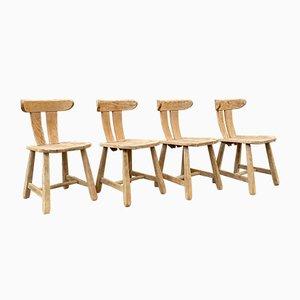 Brutalistische Stühle, 1950er, 4er Set
