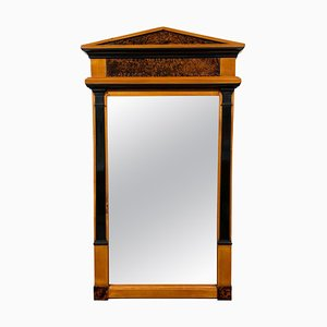 Neoclassical Biedermeier Mirror in Cherry & Walnut Roots, South Germany, 1820s
