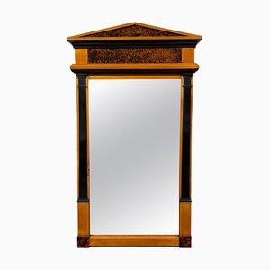 Neoclassical Biedermeier Mirror in Cherry & Walnut Roots, South Germany, 1820s