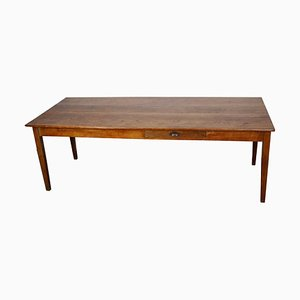 French Oak Farmhouse Dining Table, 1930s