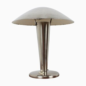 Large Bauhaus Brass Table Lamp, 1930s
