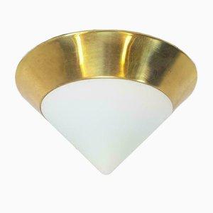 Vintage Mobo Deckenlampe aus Milchglas & Messing