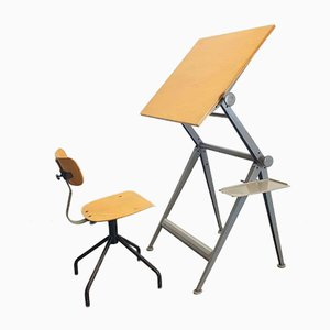 Vintage Drawing Table by Wim Rietveld & Friso Kramer for Ahrend de Cirkel