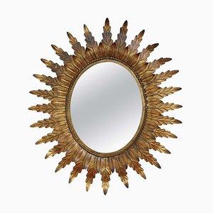 Spanish Gilt Metal Sunburst Mirror, 1960s