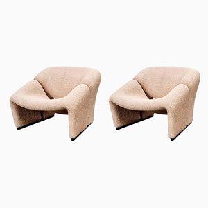 Groovy Stühle der 1. Auflage von Pierre Paulin für Artifort, 1960er, 2er Set