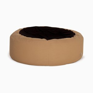 Beige and Black Fabric Glüp Bean Bag from Ligne Roset