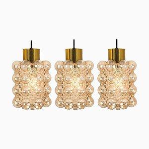 Glass Pendant Lamps by Helena Tynell for Glashütte Limburg, 1960s, Set of 3