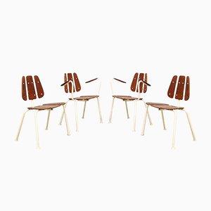Chaises de Jardin Mid-Century de Daneline, 1960s, Set de 4
