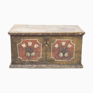 18th Century Savoyard Coffer in Polychrome Wood