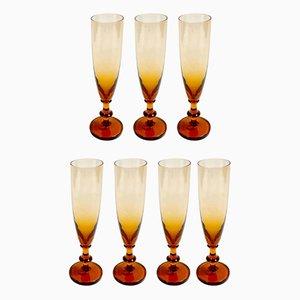 Flûtes à Champagne Ombre, 1970s, Set de 7