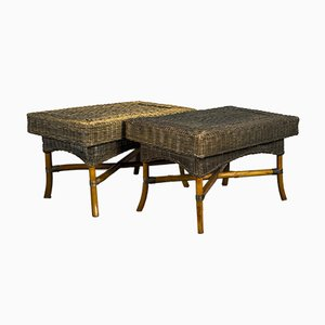 Mid-Century Bamboo Coffee Tables, 1960s, Set of 2