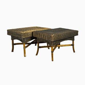 Mid-Century Couchtische aus Bambus, 1960er, 2er Set