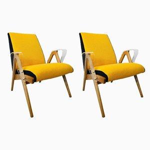 Sessel mit Plexiglas Armlehnen von Tatra Nabytok, 1960er, 2er Set