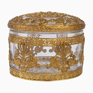Crystal Box with Gilded Metal Frame Decorated with Palmettes and Interlacing, 1900s