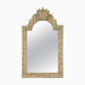 Napoleon III Stil Spiegel mit geschnitztem und patiniertem Holzrahmen