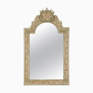 Napoleon III Style Carved and Patinated Wooden Mirror