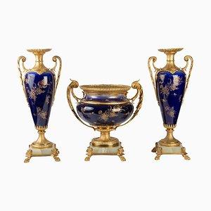Wichtige Napoleon III Porzellanschnitzerei, 3er Set