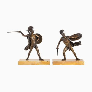 Patinated Bronzes Sculptures Horace and Curiace, Set of 2