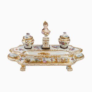 19th Century Inkwell in Meissen Porcelain