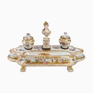 Encrier 19th-Century en Porcelaine de Meissen