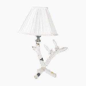 Handmade Glass Lamp with Birds
