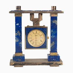 Breil Tischuhr aus Lapis Lazuli und Vergoldetem Metall