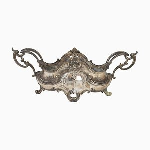 Louis XV Style Silver-Plated Metal Planter