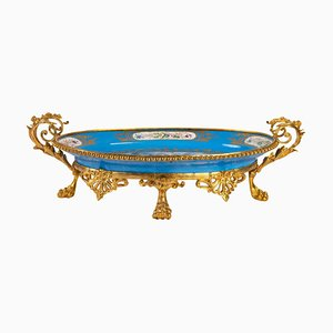 Antique Cup in Sèvres Porcelain and Gilded Bronze