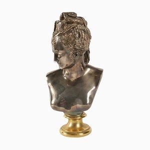 Buste von Diane aus Bronze und Silber, 1940er