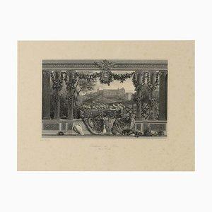Gravures représentant Le Chateau De Blois Engraved, 1950s