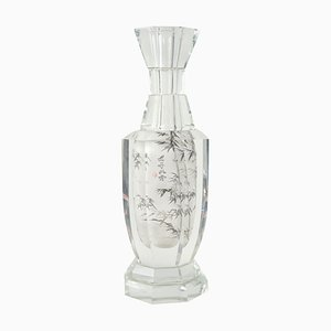 Chinoiserie Vase in Crystal, 1940s