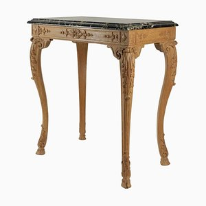 Louis XV Style Oak Hand-Carved Gueridon Table, 1940s