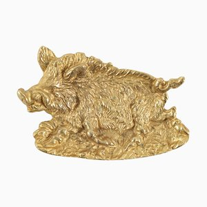 Antique Vide Poche in Gold Gilt Representing a Wild Boar