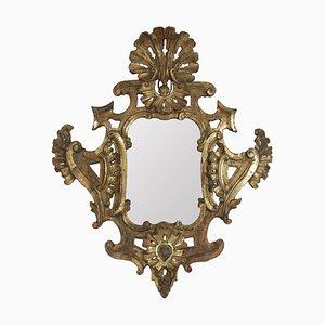 Miroir Louis XV en Bois Doré Sculpté à la Main avec Miroir Mercury