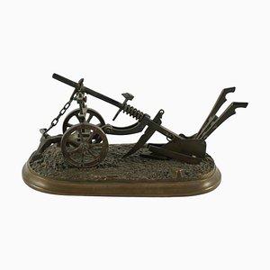 Miniature Bronze Plow, 1900s