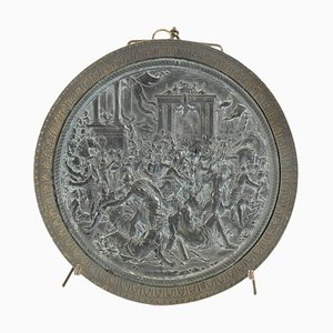 Charles X Bas Relief Medallion Called the Removal of the Sabines
