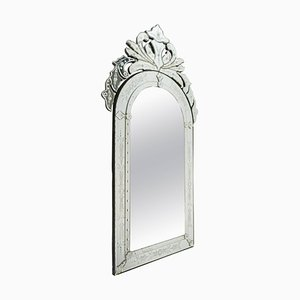 Venetian Etched and Beveled Glass Mirror, 1980s