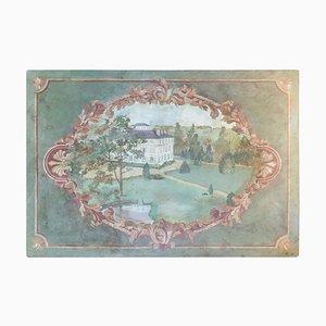 Oil on Canvas of the Chateau de la Marche en Nievre, 1950s