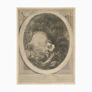 19th Century Steel Engraving Le Depart Du Courier