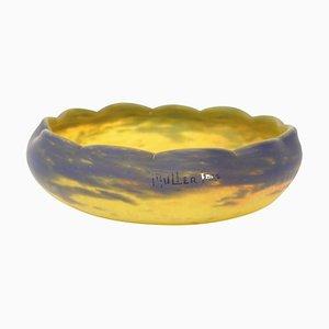 Tasse aus gefärbtem geblasenem Glas von Muller Freres, 1930er